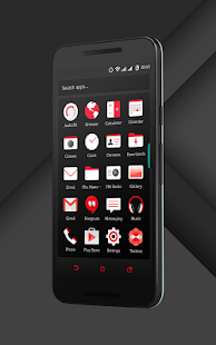 Sense Black/Red cm13 theme- screenshot thumbnail