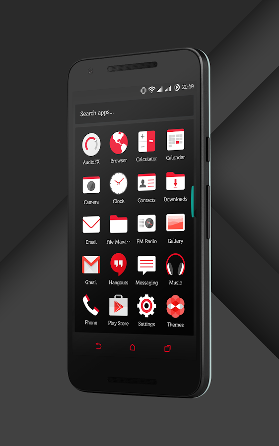 Sense Black/Red cm13 theme Screenshot 16