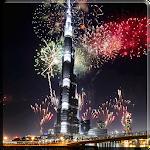 Fireworks in Dubai Video LWP Icon