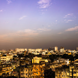 From roof -day by Amit Baran Sen - City,  Street & Park  Neighborhoods