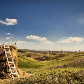 Proljetna idila by Vedran Bozicevic - Landscapes Prairies, Meadows & Fields ( clouds, sky, nature, idyllic, landscape, spring )