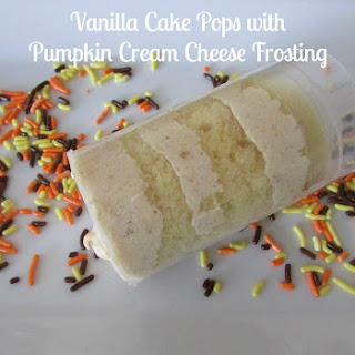 Vanilla Cake Pops with Pumpkin Cream Cheese Frosting 10