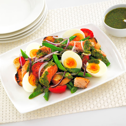 Summer Salad with Green Herb Dressing