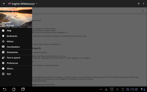 App Offline dictionaries APK for Windows Phone