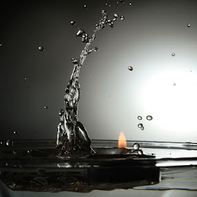 Water vs Fire by Ivan Vukelic - Abstract Fine Art ( water, body, splash, vukelic, ivo, silhouette, power, vuk, fire, man )