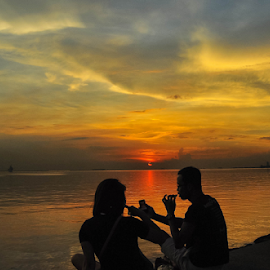 Treasured Moments by Joey Tomas - People Street & Candids ( candids, sunset, cloudscape, seascape, people, street scenes )