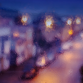 Valdivia in the Rain by Charles Brooks - City,  Street & Park  Street Scenes ( chile, valdivia, window, rain )