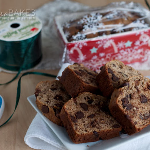 Brown Sugar Banana Bread with Pecans and Chocolate Chips