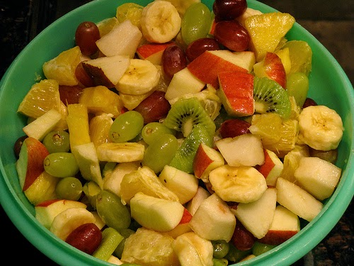 Summer Fruit Salad with Creamy Honey-Lime Dressing Recipe | Yummly