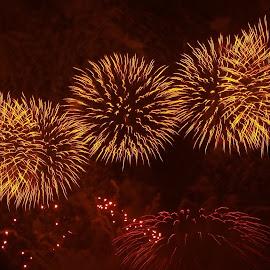 Marsaxlokk International Malta Fireworks Festival by Ruben  Paul - Abstract Fire & Fireworks ( fujifulm, malta, fireworks, yellow, marsxlokk )