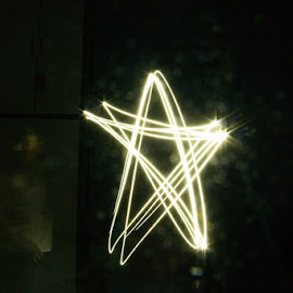 Light painting by Santosh Singh - Abstract Light Painting ( star )