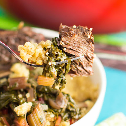 Stewed Beef Spareribs with Rainbow Chard