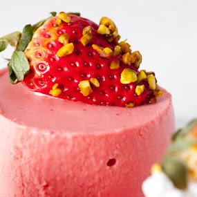 Strawberry mousse by Dora Korz - Food & Drink Candy & Dessert ( red, mousse, strawberries, pink, dessert )