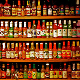 Who Dat Hot Sauce by David Walters - Artistic Objects Business Objects ( new orleans, tourist trap, hot sauce, lumix fz200, collection, spices )