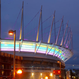 BC Place Stadium by Cory Bohnenkamp - Buildings & Architecture Other Exteriors ( building, exterior, stadium, night, vancouver, bc, bc place )
