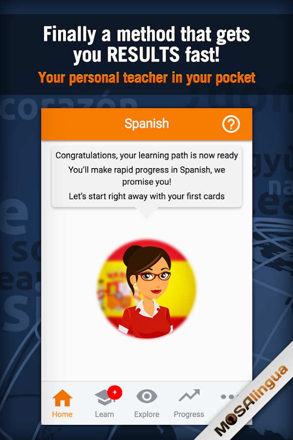Learn Spanish with MosaLingua Screenshot