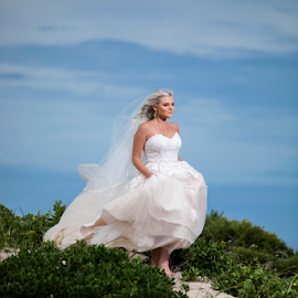 Sands by Lood Goosen (LWG Photo) - Wedding Bride ( makeup, bride, wedding dress, dress, hair, wedding photography, wedding photographer, weddings, beach, wedding photographers, wedding, brides )