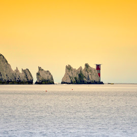 The Needles at Sunset by Neil Wilson - Buildings & Architecture Public & Historical