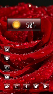 Mouthwatering rose theme - screenshot