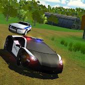 San Pedro Polizeiwagen fährt offroad