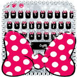 Pink Bow Silver Glitter Keyboard Theme Icon