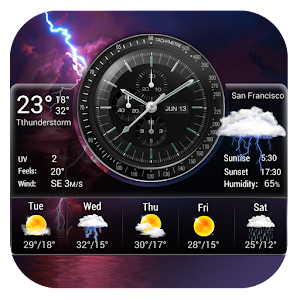 Accurate Weather and Clock Widget