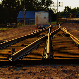 Spare Switch  2559 by Jim Suter - Transportation Railway Tracks