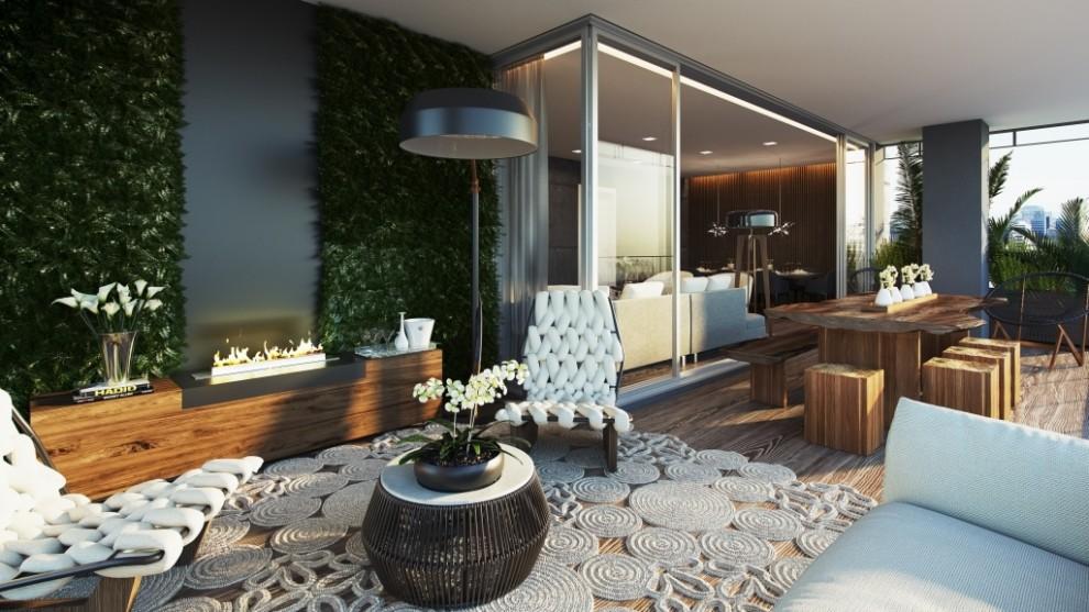 Perspectiva do Terraço Tipo - 181 m²