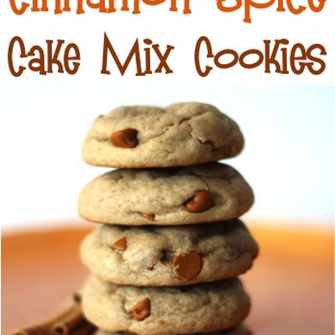Cinnamon Spice Cake Mix Cookies