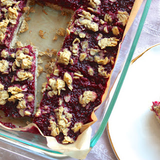 Raspberry Chia Jam & Oat Breakfast Bars