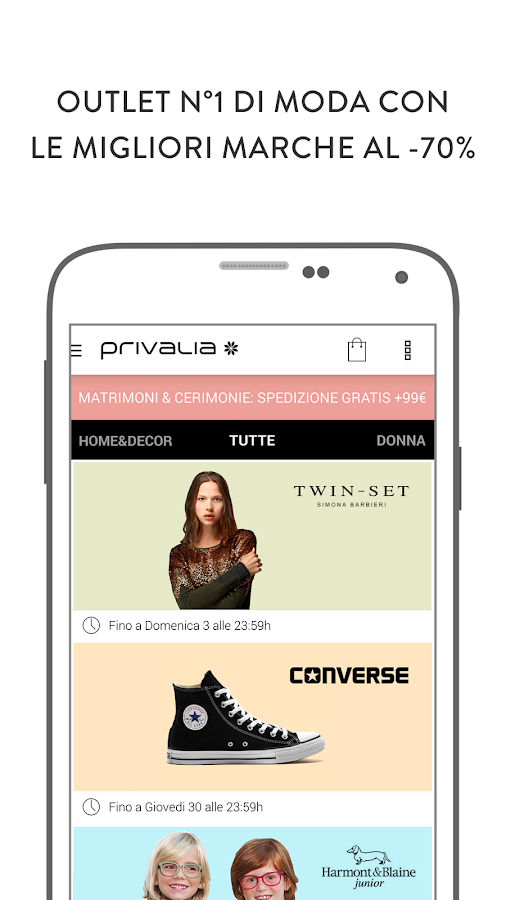 Privalia, outlet di moda Screenshot