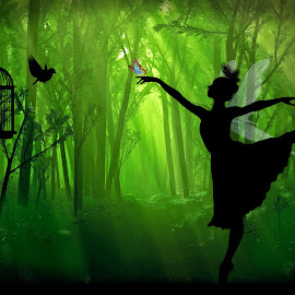 Fantasy Forest Dance by Ingrid Anderson-Riley - Illustration Sci Fi & Fantasy (  )