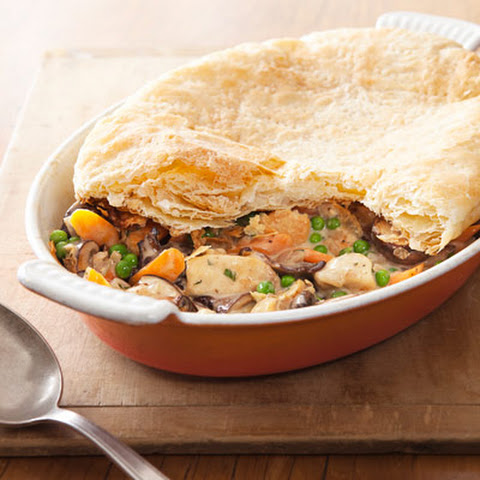 Creamy Chicken and Mushroom Pie