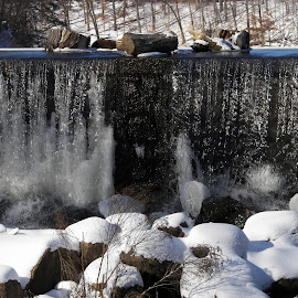 Waterfall from Harding Twp. N.J. by Jen Henderson - Landscapes Waterscapes (  )