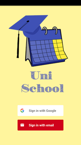 UniSchool, Students timetable Android App Screenshot