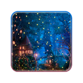 Neon Fireflies 2D Live wallpaper APK for Bluestacks