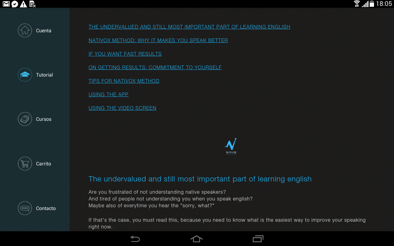 Nativox: your english tutor Screenshot 7