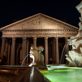 Pantheon  / Rome by Stavros Argyropoulos - Buildings & Architecture Public & Historical ( rotonda, europe, night photography, italia, church, fountain, travel, italy, pantheon, nikon d90 )