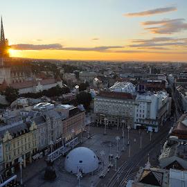 by Zeljko Kliska - City,  Street & Park  Vistas ( vistas, dawn, vista, croatia, zagreb, travel, sunrise, cityscape, landscape )