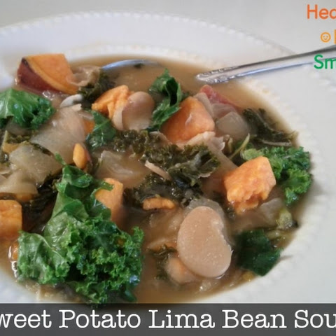 Sweet Potato Lima Bean Soup with Kale