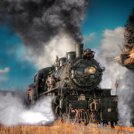 McCloud River Railroad 2-6-2 Prairie by Nickel Plate Photographics - Transportation Trains ( garibaldi, railroad, locomotive, train, steam )