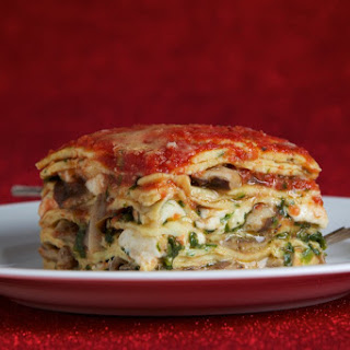 Crepe Lasagna With Mushrooms and Spinach (Lasagne di Crespelle con Funghi e Spinachi)