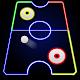 Laser Glow Hockey 3D : Laser Color Hockey