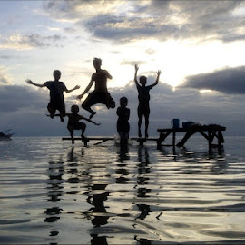 Perez Boyzzzzz by Dickson   Shia - Babies & Children Children Candids ( sunset, action, sea, beach, jump )