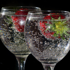 strawberry in glass by LADOCKi Elvira - Food & Drink Fruits & Vegetables