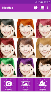Download Android App NiceHair Hair Color Changer For Samsung - Hair colour editor download