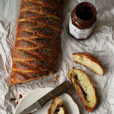 Braided Chocolate Hazelnut Bread