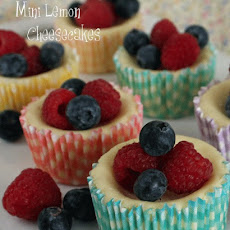 Mini Lemon Cheesecakes with fresh berries