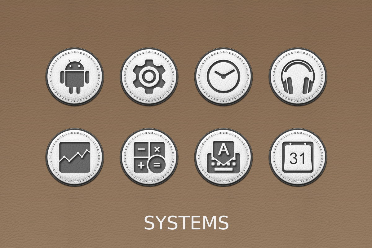 White Leather Icon Pack Screenshot 14