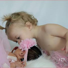 new sisters! by Dawna Hall-Kraus - Babies & Children Child Portraits